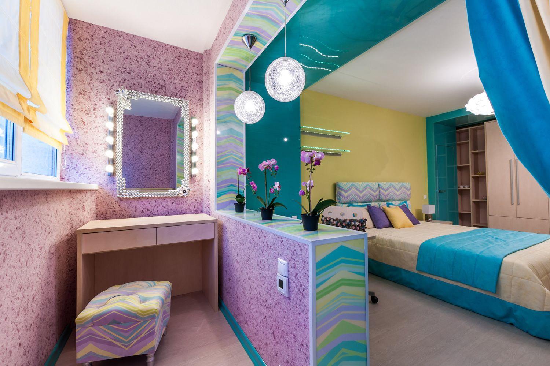 Дизайн спальни дом серии корабль с балконом.