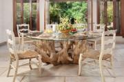 Фото 3 Стеклянные столы для кухни (59 фото): изящная хрупкость с сильным характером