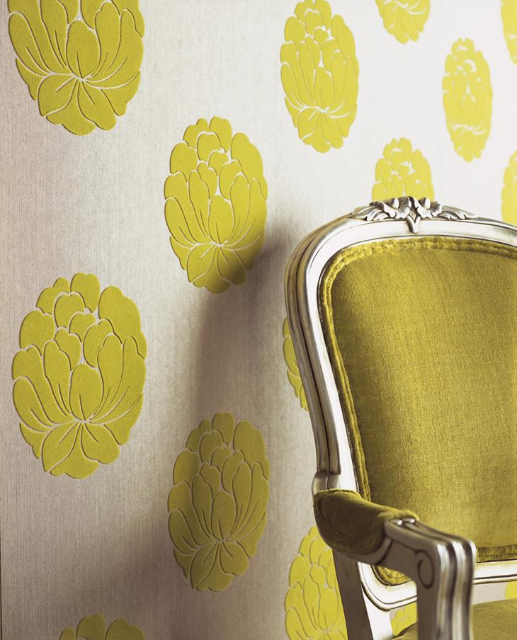 Желтые цветы нанесенные с помощью флокирования