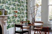 Фото 13 Зеленые обои в интерьере: как придать пространству свежести и 50+ лучших сочетаний