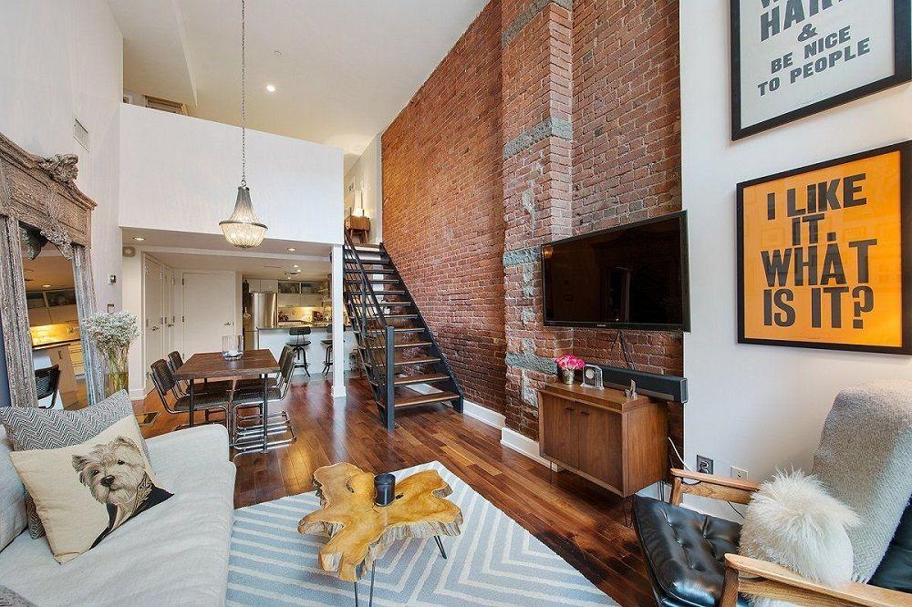 Визуальное разграничение первого и второго этажа позволяет комбинировать несколько стилей