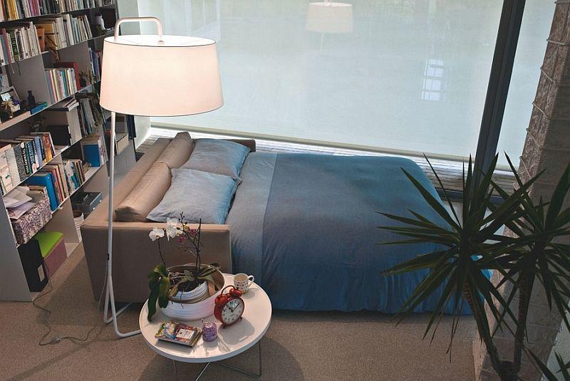 Пример разложенного дивана с механизмом американская раскладушка