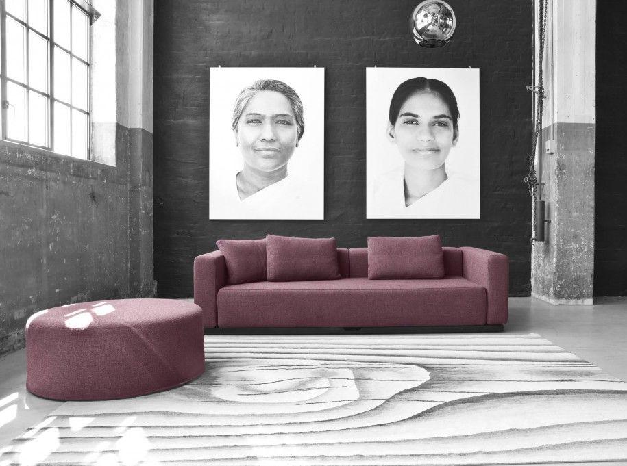 Фиолетовый диван с механизмом американская раскладушка