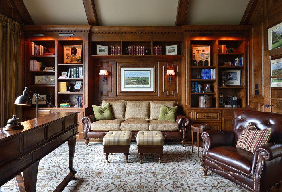 Дизайн домашнего кабинета с диваном