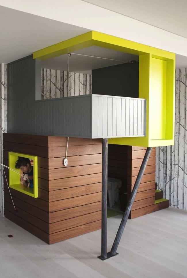 Игровой домик с современным дизайном фасада