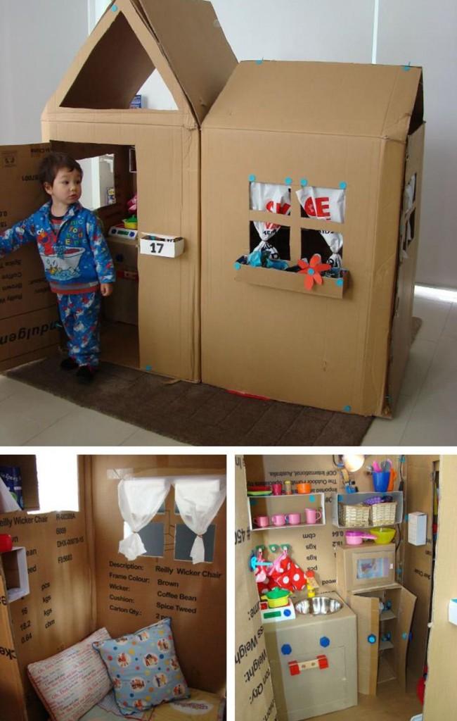 Как своими руками сделать домик для ребенка