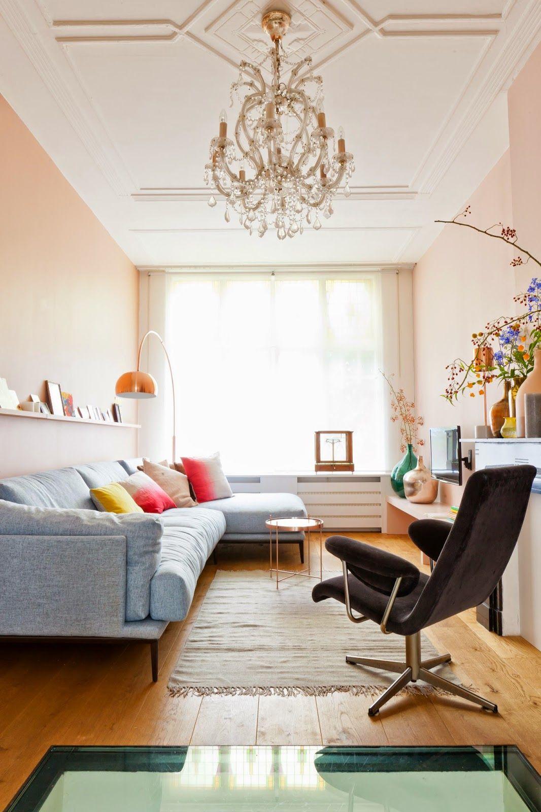 Нежный розовый цвет прекрасно подходит для малогабаритных квартир