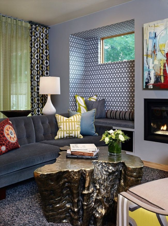 Уютная и стильная зона отдыха