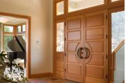 Фото 5 Деревянные входные входные: ТОП-10 надежных и стильных моделей для дома 2019 года