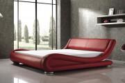 Фото 38 Кровати кожаные (69 фото): стильная роскошь в современном интерьере