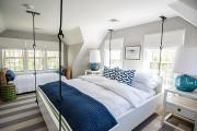 Фото 2 Подвесная кровать (45 фото): сладкий сон на парящем облаке