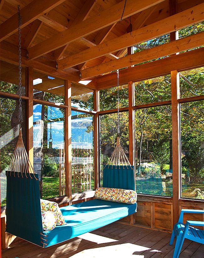 Наиболее подходящее место, чтобы отдохнуть, для кушетки-гамака – веранда или терраса