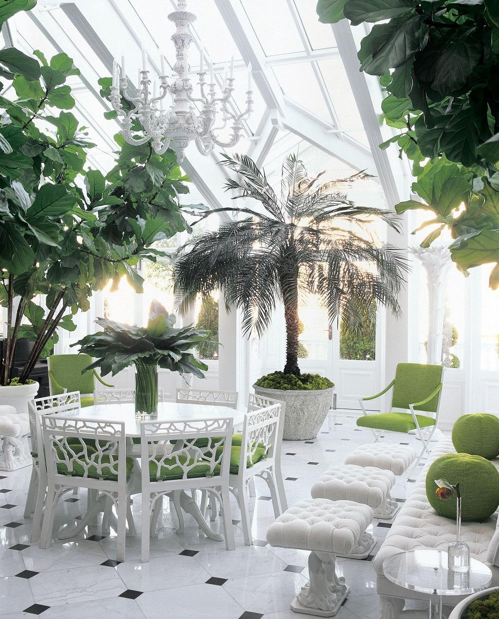 Зимний сад, оформленный в стиле - неоклассика