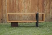 Фото 9 Скамейки из дерева (45 фото): разнообразие форм и стилей