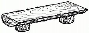 Рис. 2 «Монастырская» скамейка