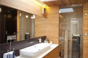 Фото 16 Столешницы для ванной комнаты (80+ моделей для современного интерьера): как выбрать, виды и материалы