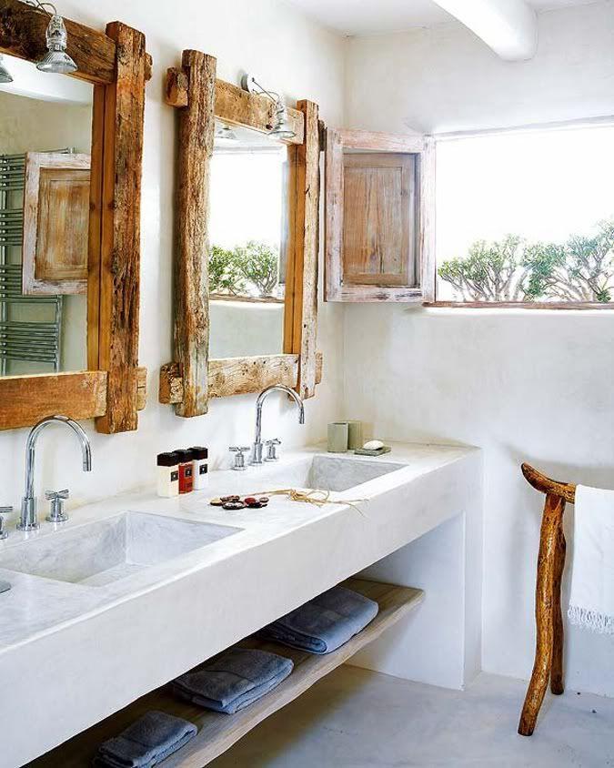 Навесная каменная столешница с полочкой для хранения ванных принадлежностей