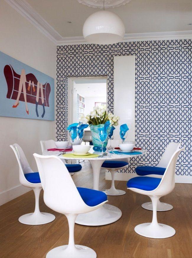 Дизайн столового сервиза перекликается с общим стилем помещения