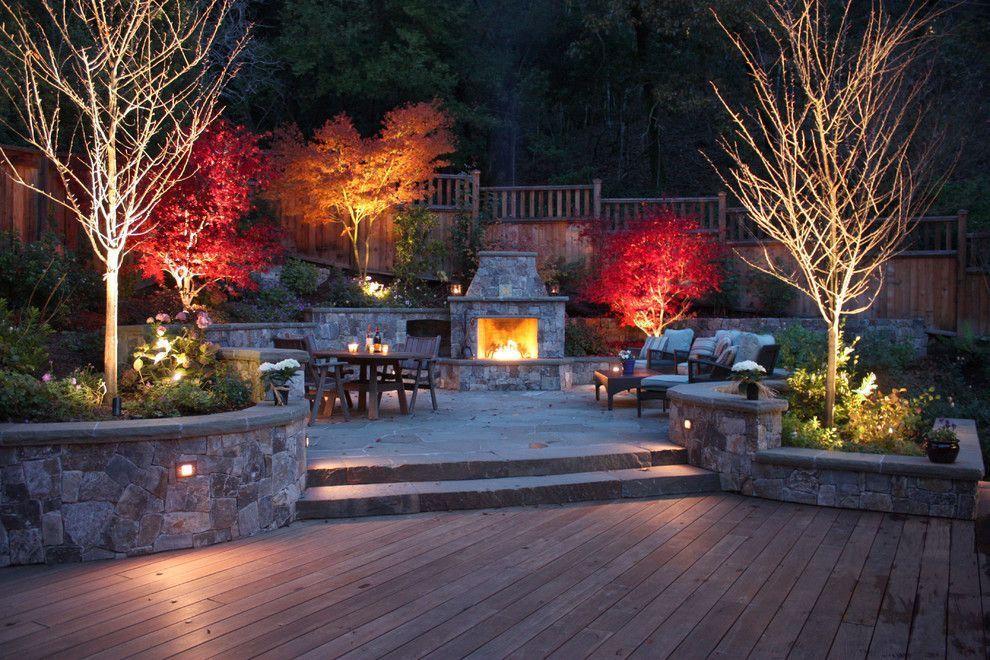 Акцентирующая подсветка садовых деревьев