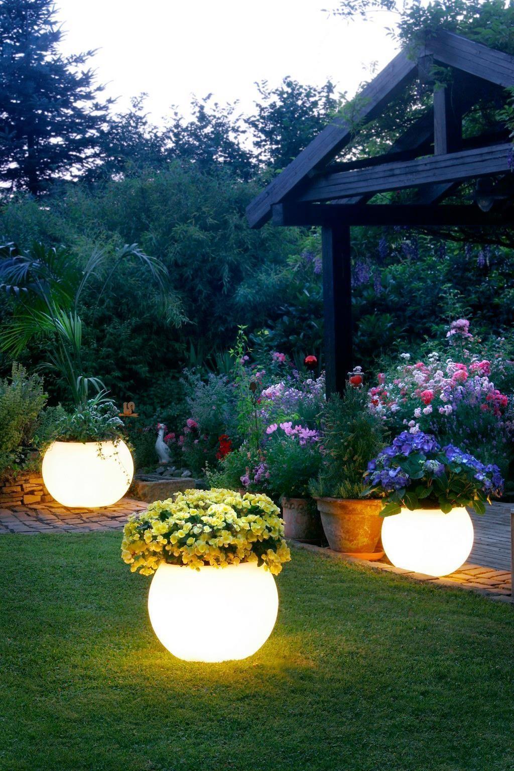 Светильники - клумбы