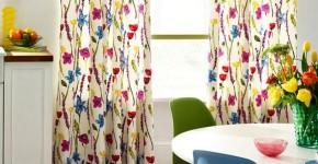 Занавески на кухню (44 фото): практично, модно, стильно фото