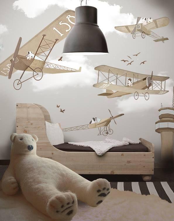 Забавные песики на дельтапланах - отличный сюжет для комнаты мальчишки в возрасте от 3 до 6 лет