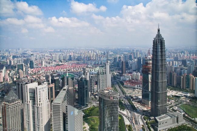 Башня Цзинь Мао (370 м) в Шанхае