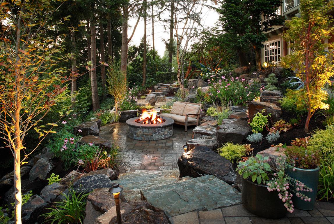 """Уютный уголок для отдыха в """"саду камней"""""""