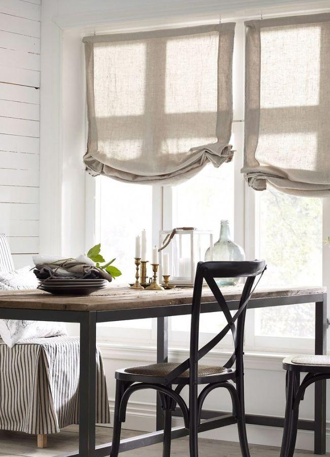 Льняные австрийские шторы - идеальны для интерьера в эко-стиле
