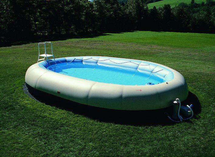 Надувной бассейн с широкими надувными бортиками