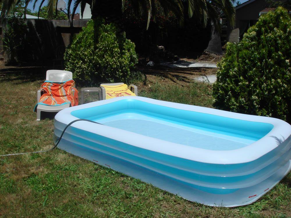 Прямоугольный детский надувной бассейн