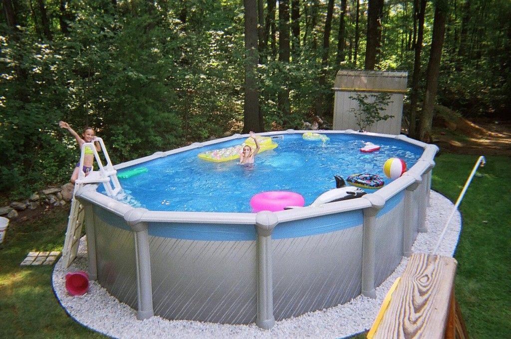 Всесезонный каркасный бассейн серого цвета