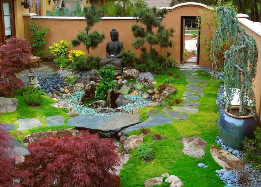 Японский сад прекрасно подходит для обустройства небольших дачных участков