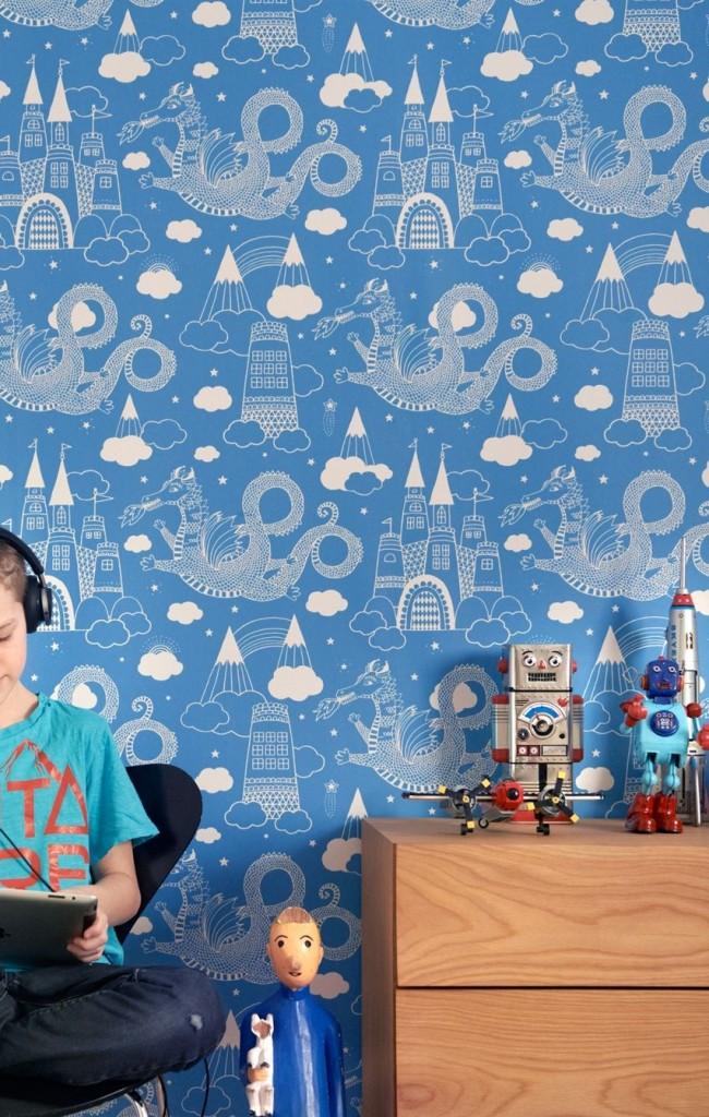 Обои в детскую комнату для мальчиков: 100 фото интерьеров #2018