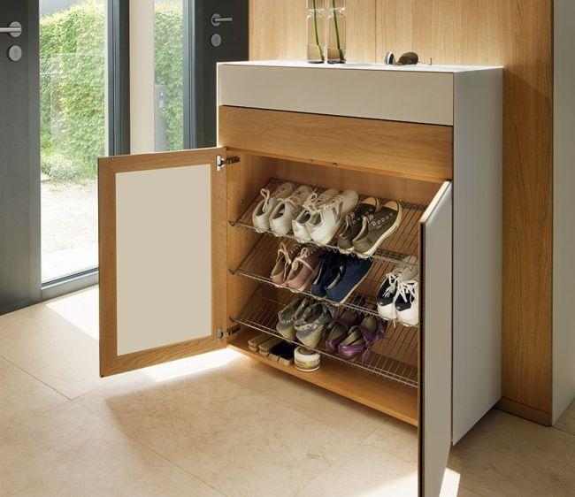 Металлическая галошница для обуви slim