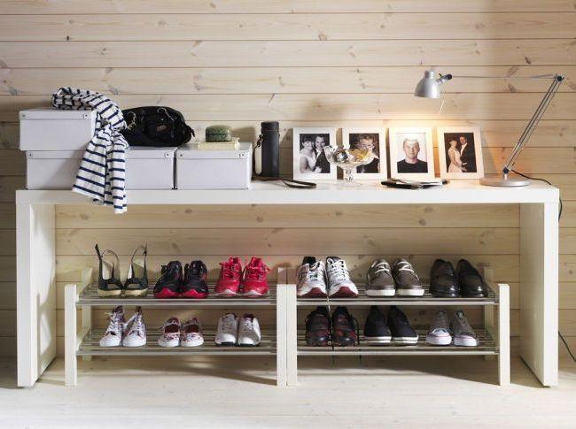 Хромированная компактная обувница