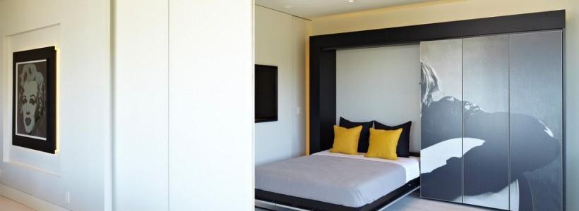 Раздвижные перегородки для зонирования пространства в комнате — 47 фото идей