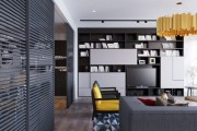 Фото 1 Раздвижные перегородки для зонирования пространства в комнате — 47 фото идей