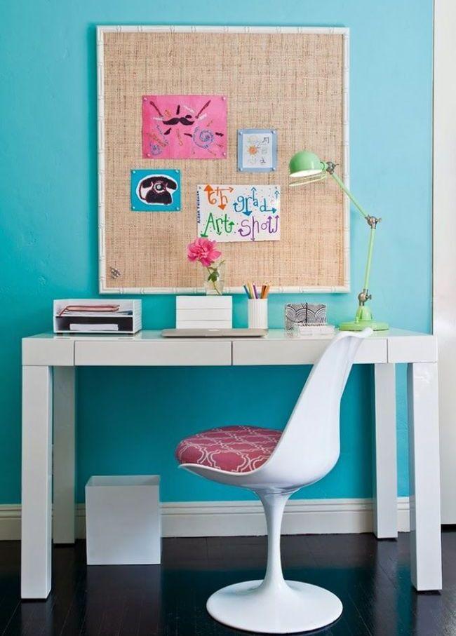 Лаконичный письменный стол белого цвета