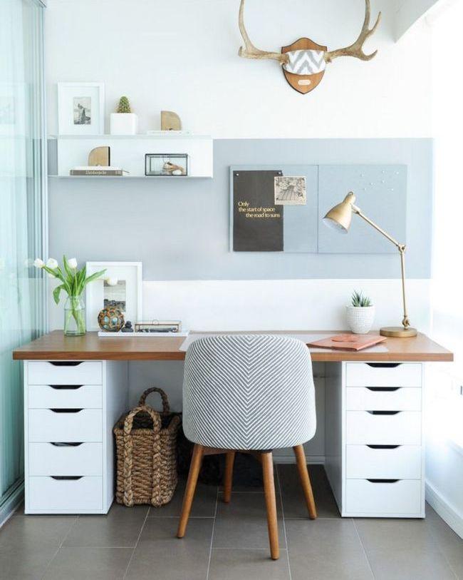Элегантный письменный стол с вместительными выдвижными шухлядами