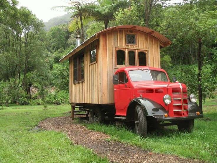 Баня на колесах в кузове грузовика