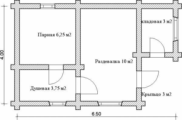 Рис. 3. Проект типовой бани