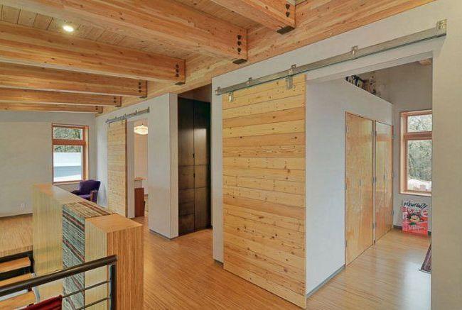 Лаконичный дизайн раздвижной межкомнатной двери