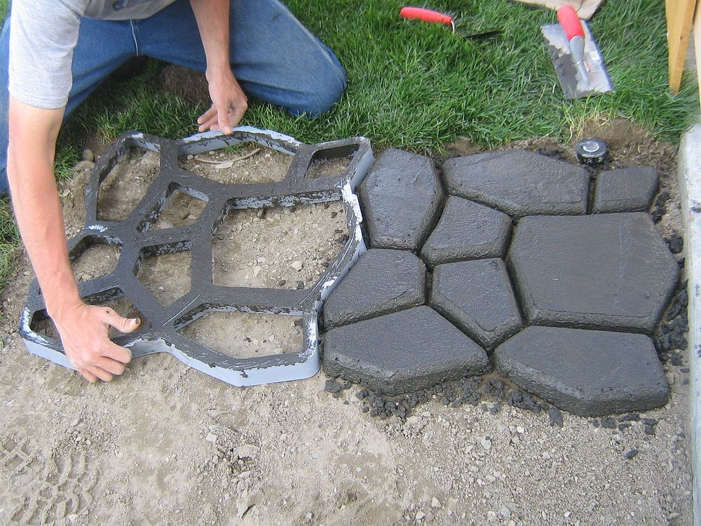 Форма для садовой дорожки своими руками фото 568