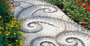 Садовые дорожки своими руками (45 фото): материал, форма, особенности фото