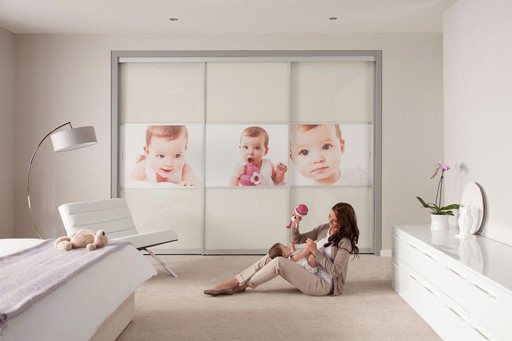 Фотопечать на шкафу в детской комнате