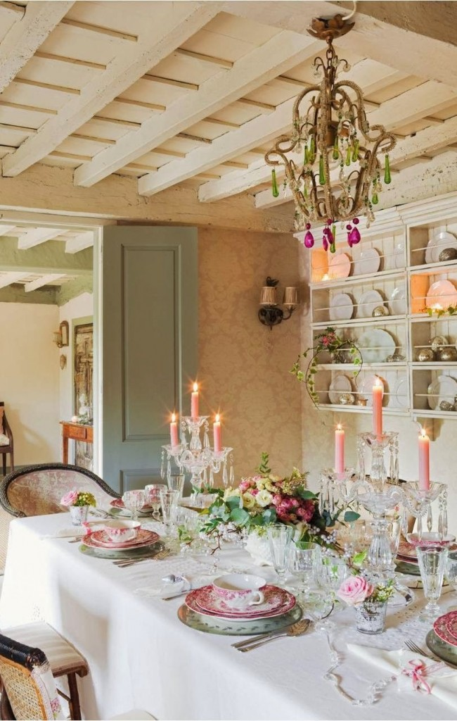 Интерьер в нежной пастельно-розовой гамме