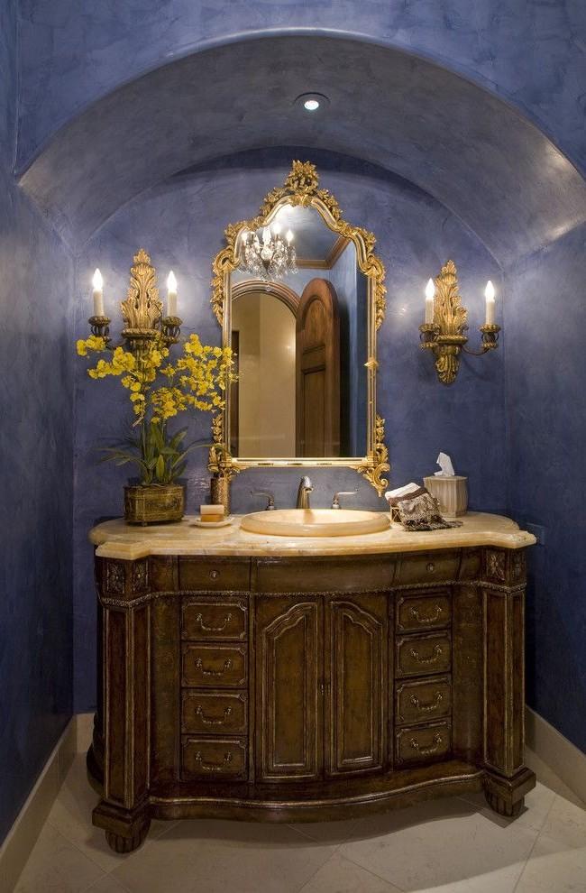 С такой штукатуркой ванная комната будет выглядеть по-королевски