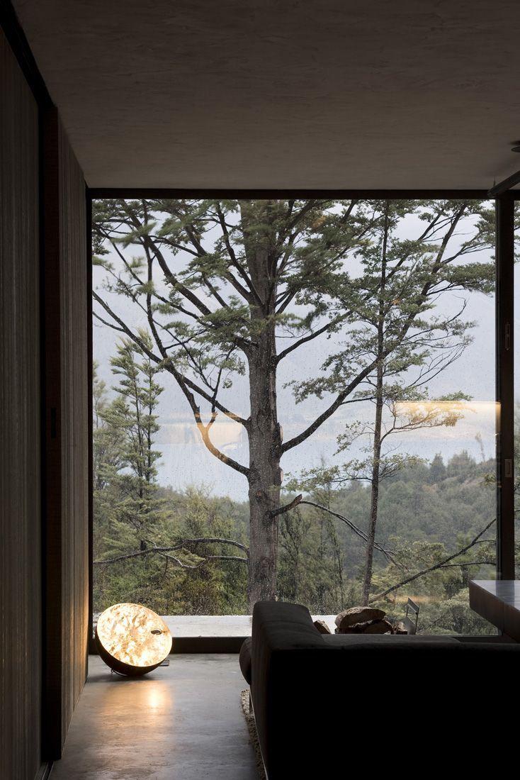 Панорамный вид из дома с остеклением