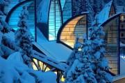 Фото 1 Витражное остекление фасадов (46 фото): практично и современно